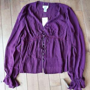 Talbots silk peasant blouse NWT
